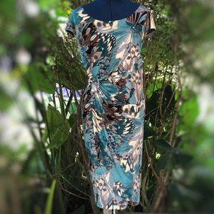 Dressbarn |  Faux Wrap Butterfly Floral Dress